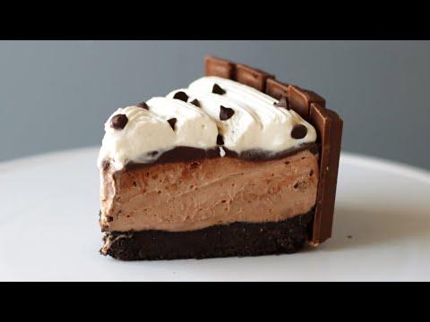 No Bake Chocolate Cheesecake With Kit Kats   Easy Cheesecake Recipe   No Eggs