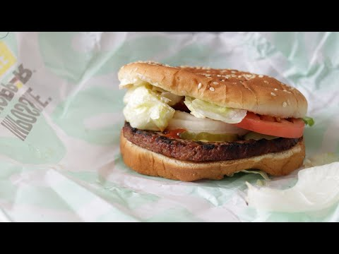 First Time Trying Burger King's Impossible Whopper | Does Fake Meat Taste Good?