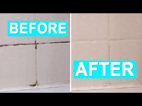 How to Clean Black Moldy Shower or Kitchen Tile and Silicone Caulking | Two Methods No Scrubbing