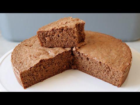 How to Make Chocolate Sponge Cake | 4 Ingredient Chocolate Sponge Cake Recipe