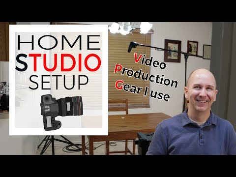 Home Studio Setup and Camera Gear for YouTube | Filming Editing Lighting Audio
