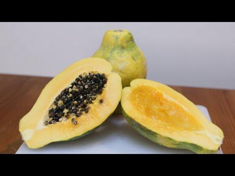 How to Cut and Eat a Papaya | Papaya Taste Test