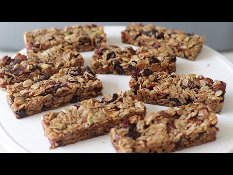How to Make Granola Bars | Yummy Homemade Granola Bars Recipe | Gluten-Free