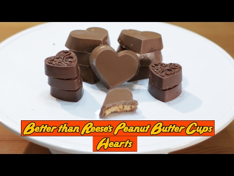 How to make Peanut Butter Cups - Easy Heart Shaped Better Than Reese's Peanut Butter Cups Recipe