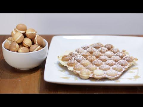 How to Make Bubble Waffles | Homemade Egg Waffles | Bubble Waffle Recipe