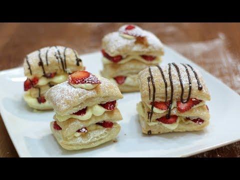 How to Make Napoleon | Easy Strawberry Napoleon Puff Pastry