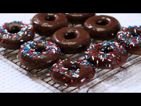 How to Make Chocolate Donuts - Chocolate Cake Doughnuts Recipe