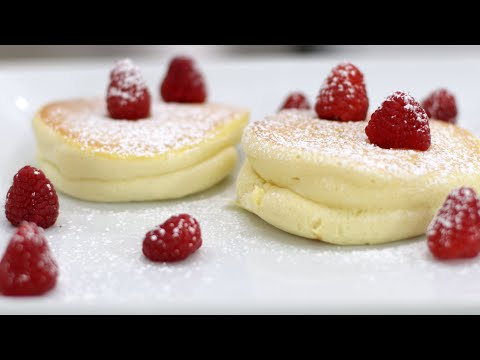 How to Make Japanese Souffle Pancakes | Easy Souffle Pancake Recipe