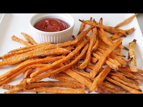 how to make sweet potato fries | Easy Baked Sweet Potato Fries Recipe