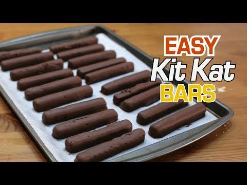 How to Make Kit Kat Bars | Easy 2 Ingredient Kit Kats