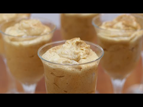 How to Make Pumpkin Mousse | Easy Homemade Pumpkin Mousse Recipe No Eggs