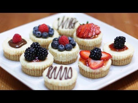 How to Make Mini Cheesecakes | Easy Homemade Cheesecake Bites Recipe