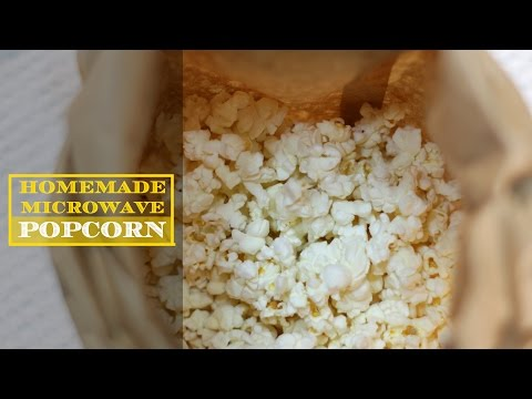 How to Make Homemade Microwave Popcorn - Video Demonstration