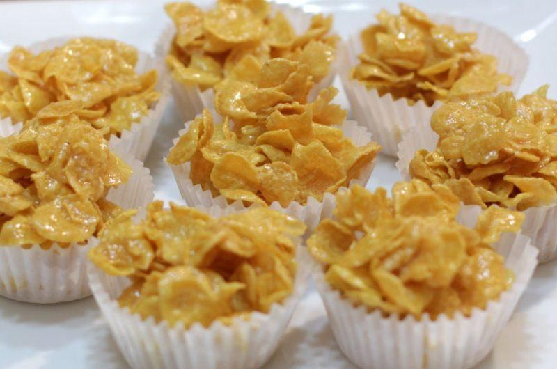Eight honey joys on a white plate