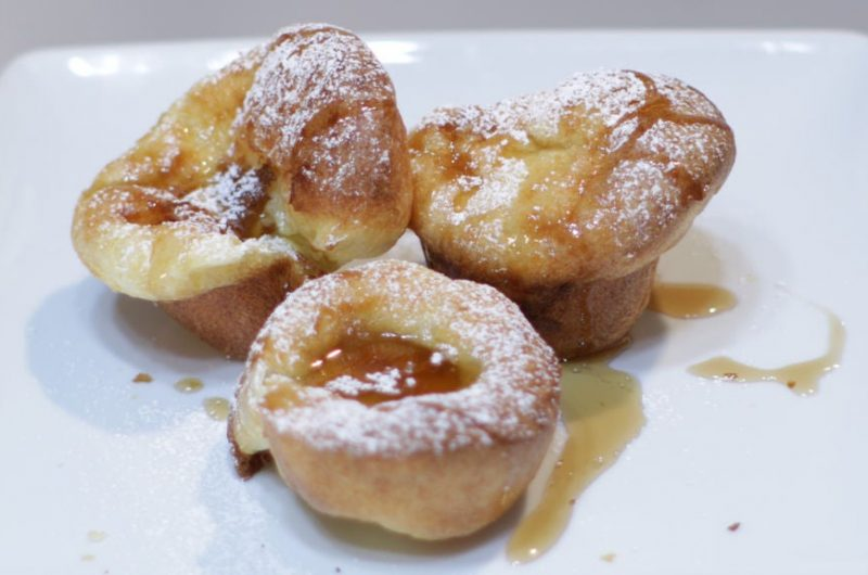 Easy popovers on a white plate