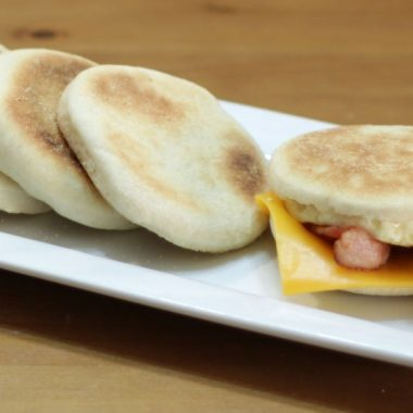 homemade english muffins on a plate