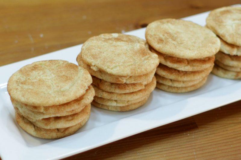 plate full of snickerdoodles cookies