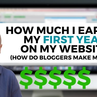 how much I earned my first year on my website