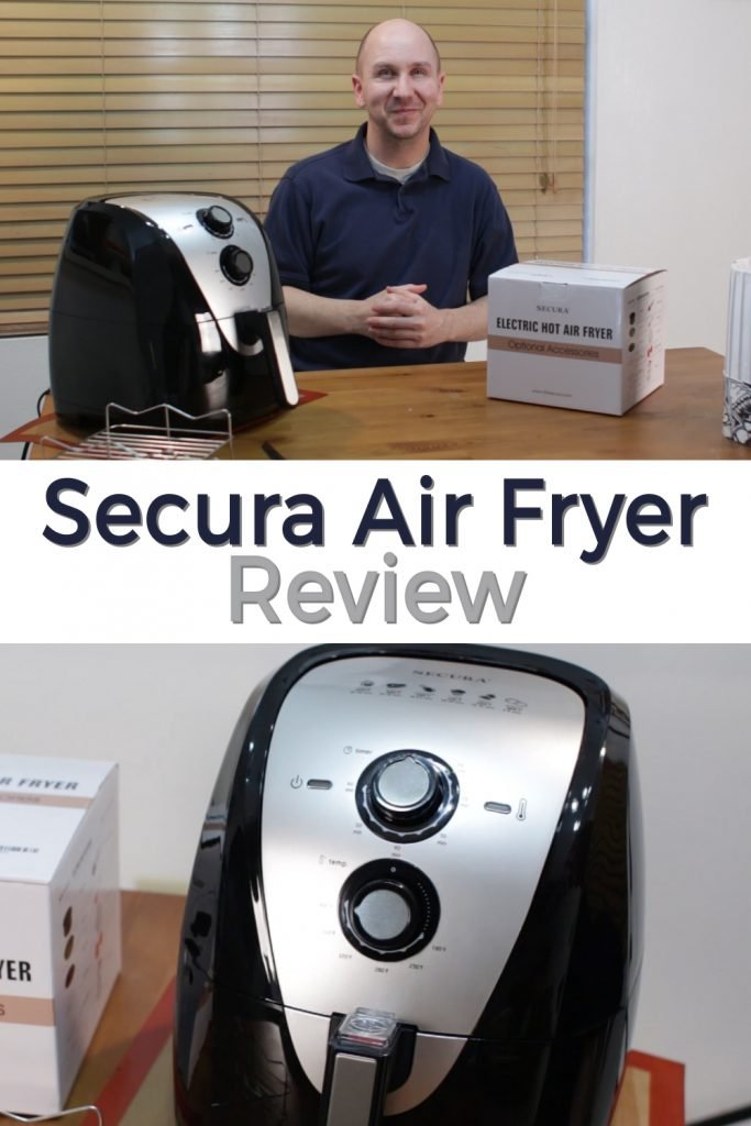 Secura Air Fryer review pin for Pinterest
