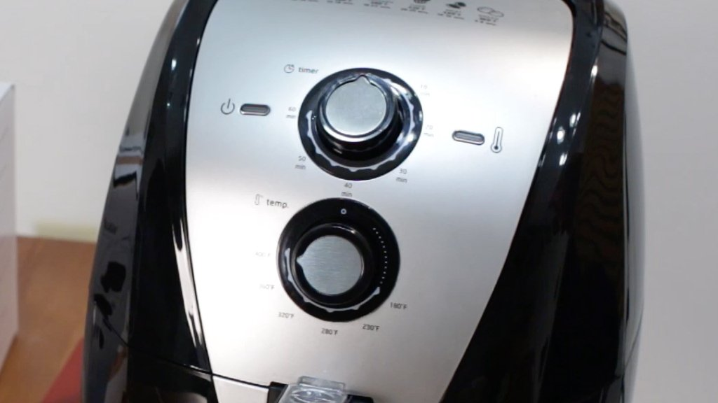 Secura Air fryer with dial and temp