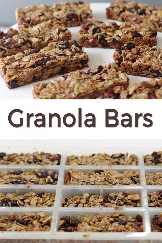 Homemade granola bars pin for Pinterest