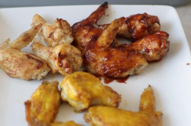 air fryer chicken wings on a white plate