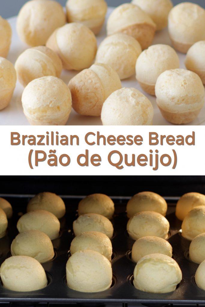 Brazilian cheese bread pin for Pinterest