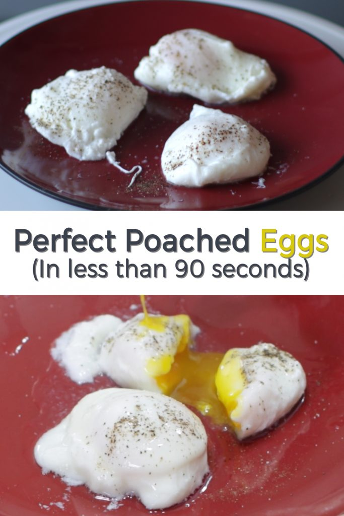 Perfect poached eggs pin for Pinterest
