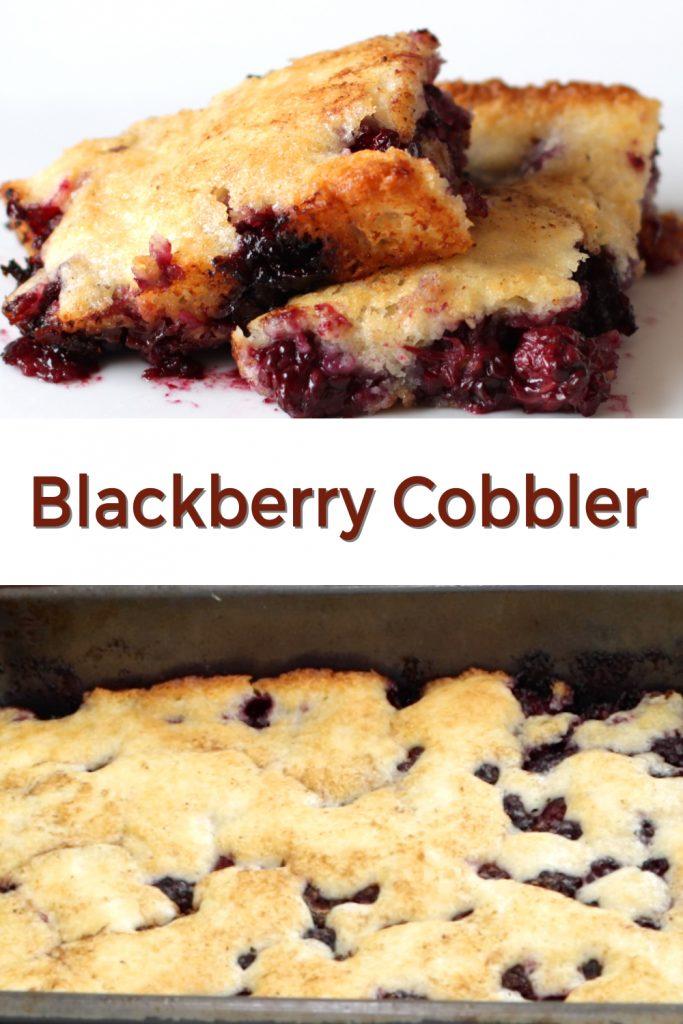 Blackberry cobbler pin for Pinterest