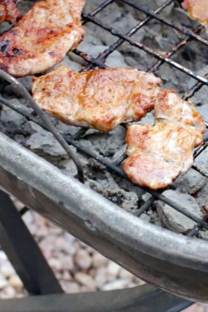 Honey mustard pork tenderloin on the grill