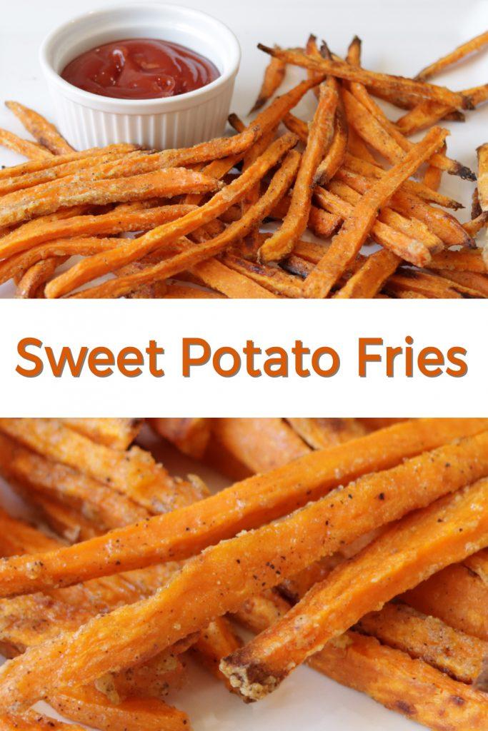 Sweet potato fries pin for Pinterest