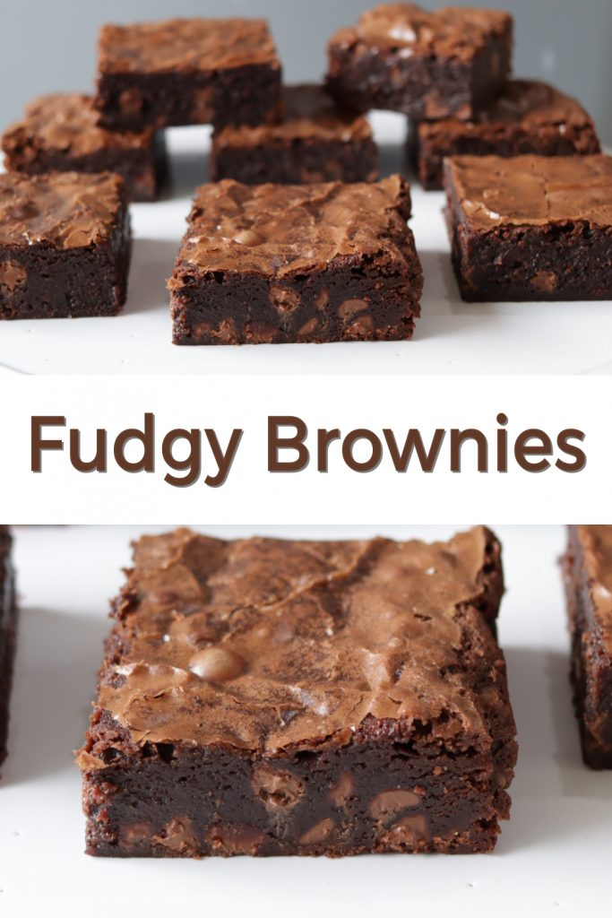 Fudgy brownies pin for Pinterest