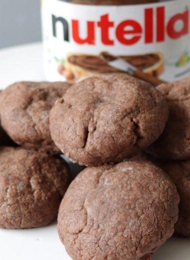 Plate full of Nutella Cookies