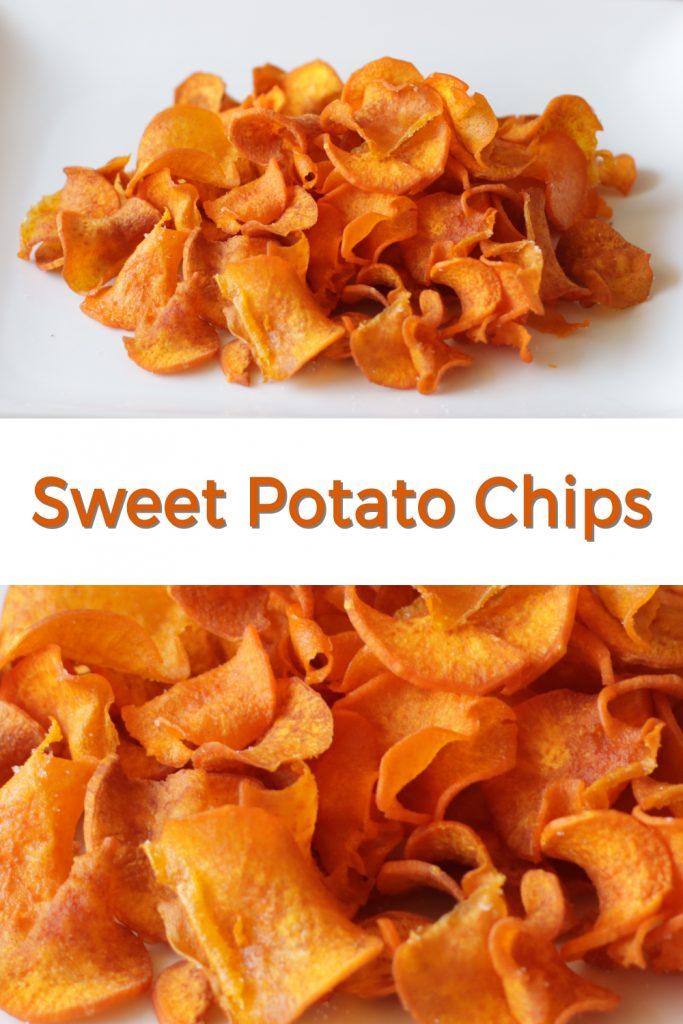 Sweet potato chips pin for Pinterest