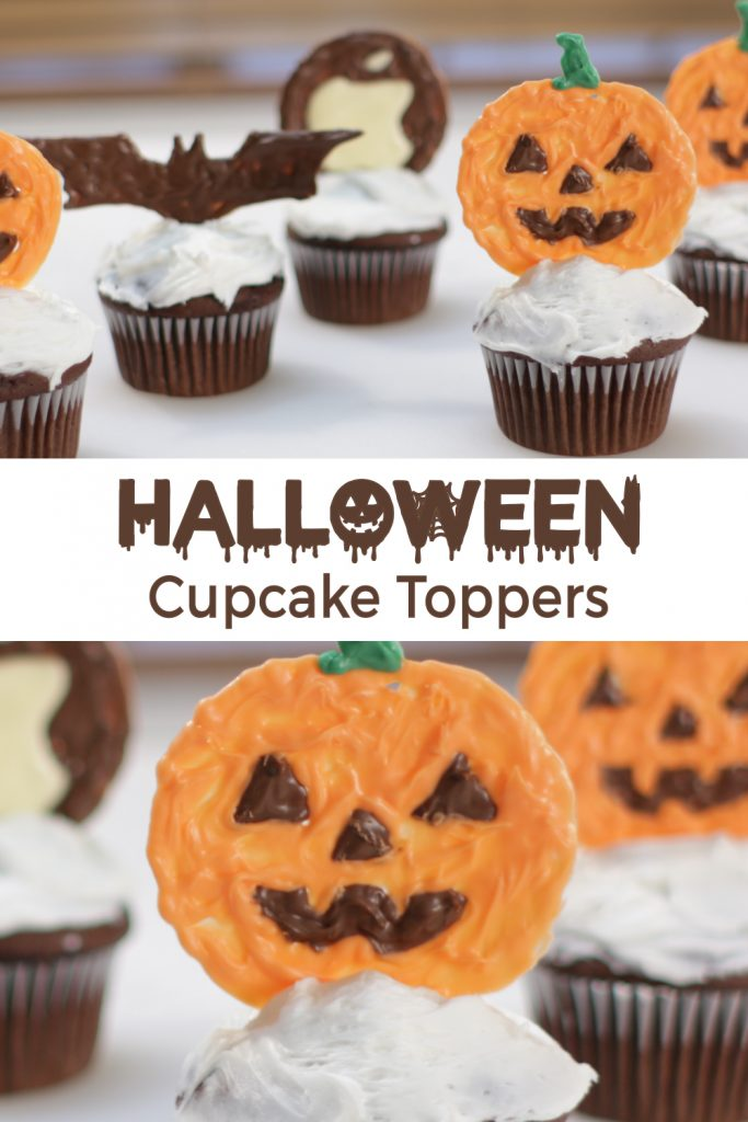 Halloween cupcake toppers for Pinterest