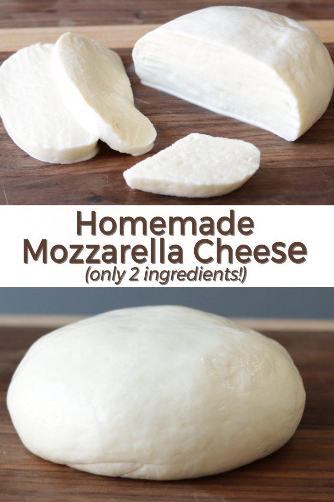 Homemade mozzarella cheese pin for Pinterest