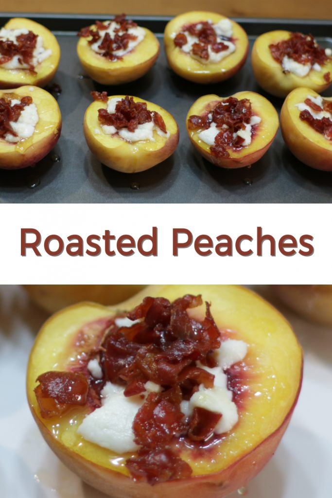 Roasted Peaches pin for Pinterest