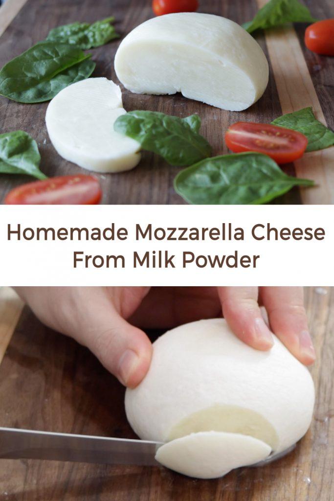Homemade Mozzarella cheese from milk powder pin for Pinterest