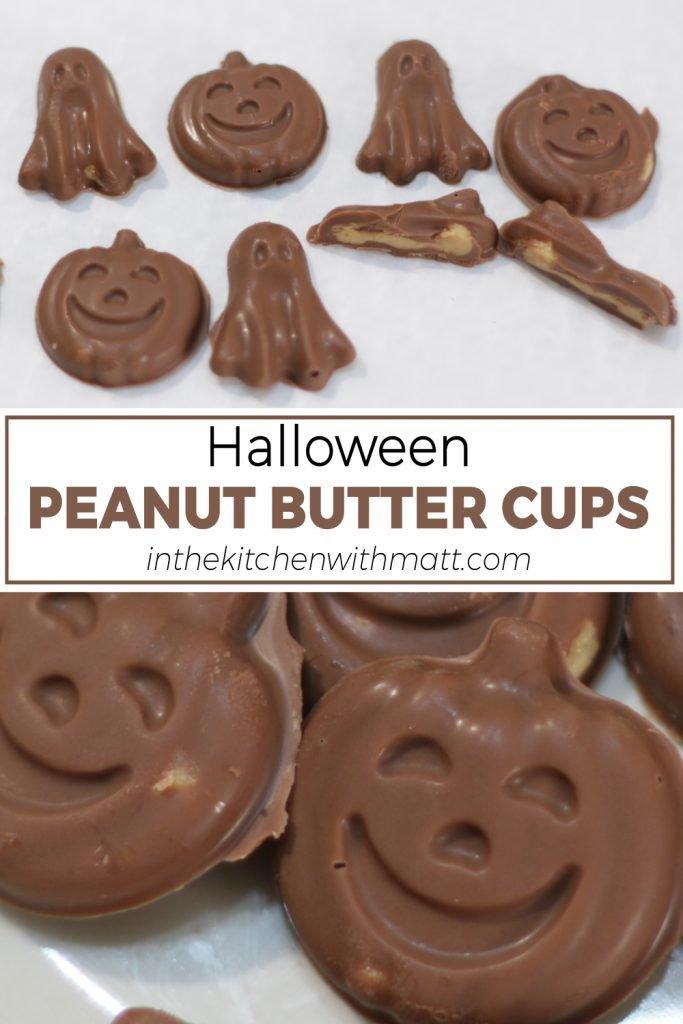 Halloween peanut butter cups pin for Pinterest