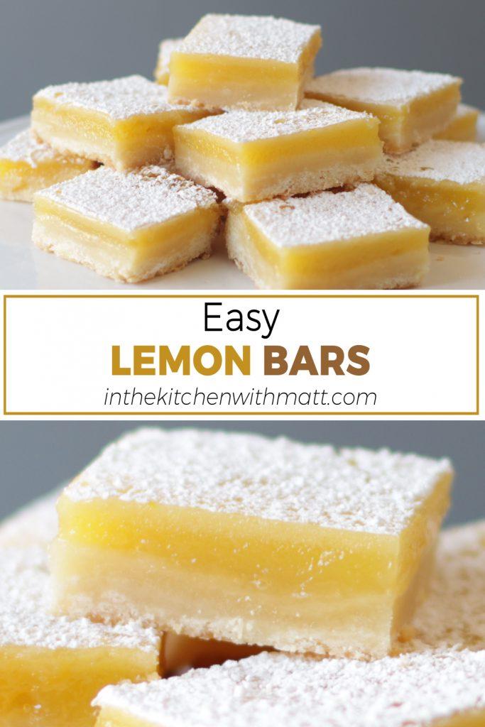 Easy Lemon Bars pin for Pinterest