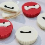 big hero 6 baymax peanut butter cups on a white plate