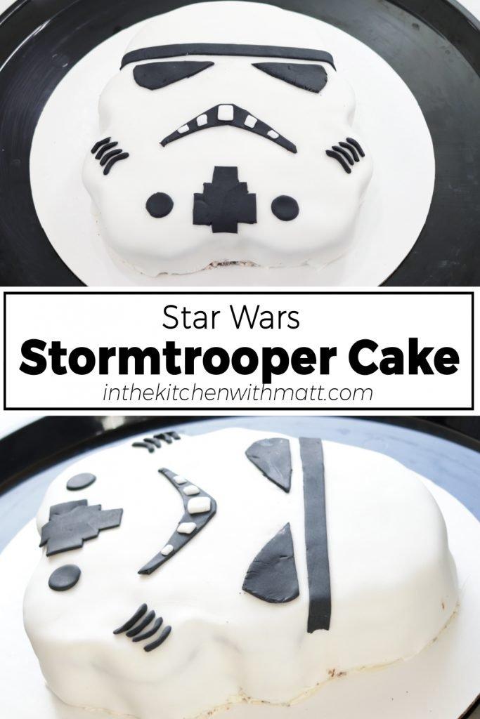 Star Wars Stormtrooper Cake pin for Pinterest