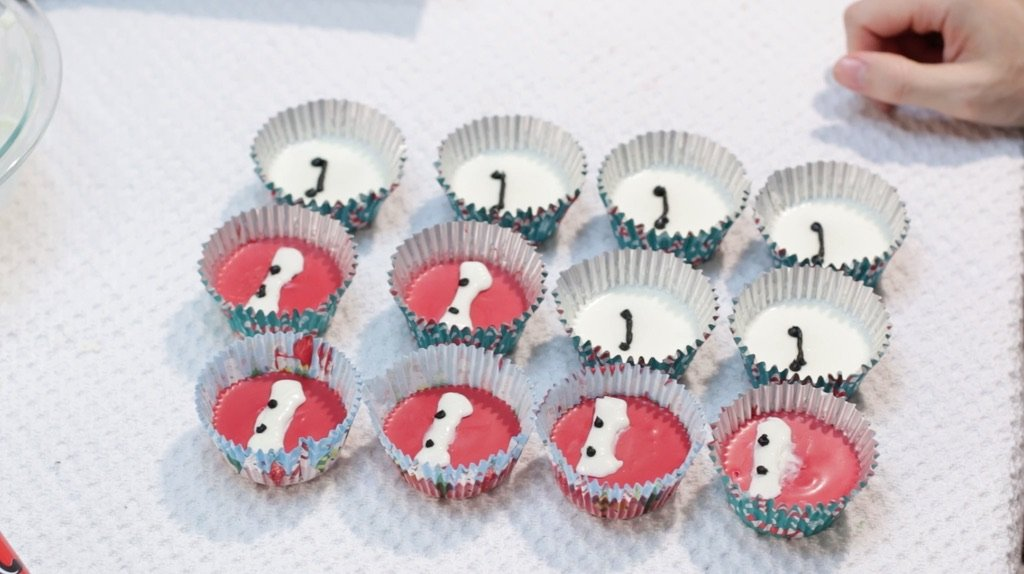 Finished Big Hero 6 Baymax peanut butter cups