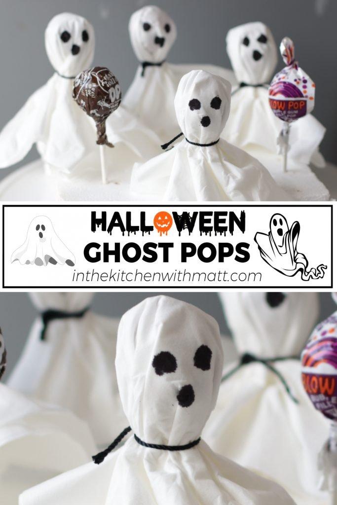 Halloween Ghost Pops pin for Pinterest